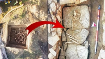 5000 year old eairn type grave found in Istanbul Silivri District
