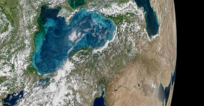 Phytoplanktons turn Black Sea, Bosphorus into turquois